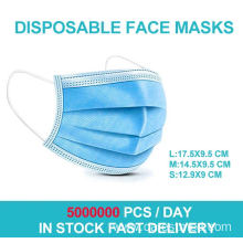 Hot sale supermarket  package 10pcs/bag  non woven face mask